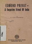 Edmond Privat- A Forgotten Friend of India