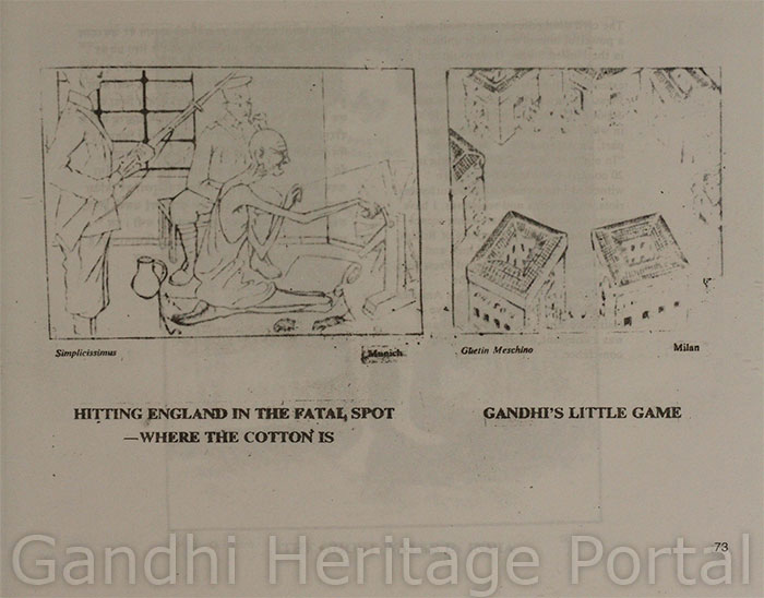 Hitting England in the Fatal Spot-where the cotton is,Gandhi's Little Game