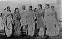 Walking to a prayer meeting at Birla House, January 29, 1948; one of the last photographs of Mahatmaji
