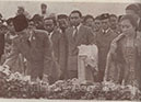 The World pays its homage to the departed Mahatma. Representatives from Indonesia.