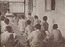 The Basic School of the Talimi Sangh, Sevagram; a number of pupils, drawn from all parts of India, attend the School