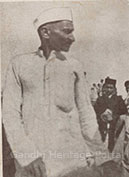 Gandhiji with the