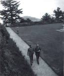 Viceroy Lord Wavell arriving along with his Private Secretary Evan Jenkins to open the Leaders' Conference