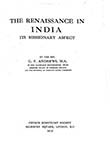 The Renaissance in India its Missionary Aspect